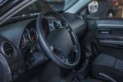 Inside of a modern car. Royalty Free Stock Image