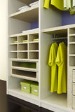 Inside the modern closet Stock Photography