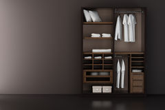 Inside the modern closet Royalty Free Stock Image