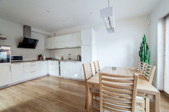 Inside modern kitchen Stock Photo
