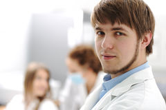 Inside the modern lab of university hospital Stock Photo