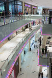 Inside modern luxuty mall in Dubai Royalty Free Stock Image