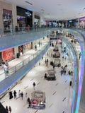 Inside modern luxuty mall in Dubai Stock Photo