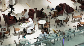 Inside modern luxuty mall in Dubai Stock Photography