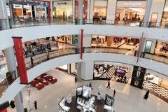 Inside modern luxuty mall in Dubai Royalty Free Stock Photos