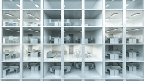 Inside modern office building Royalty Free Stock Photo