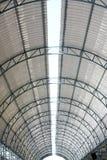 Inside modern roof. Big construction inside modern roof Stock Images