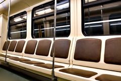 Inside of modern train Royalty Free Stock Photography