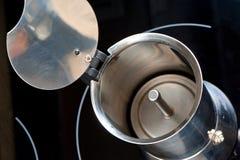 Inside of moka coffee pot Royalty Free Stock Image
