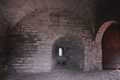 Inside of Monarchic tower of Fortress Oreshek near Shlisselburg, Russia Royalty Free Stock Photography