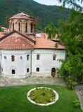 Inside the monastery Bachkovski stock photo