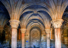 Inside monastery of Carracedo on Bierzo Royalty Free Stock Photo
