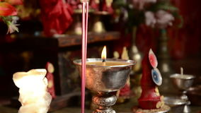 Inside the monastery Martha. Nepal. Himalayas. stock footage