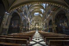 Inside Montserrat Abbey Royalty Free Stock Photography