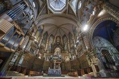 Inside Montserrat Abbey Stock Image
