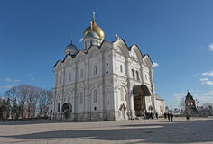 Inside Moscow Kremlin Cathedral of the Archangel Stock Image