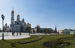 Inside the Moscow Kremlin, Moscow, Russian federal city, Russian Federation, Russia Royalty Free Stock Images