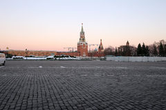 Inside of Moscow Kremlin at night, Russia. UNESCO World Heritage Site Stock Photos