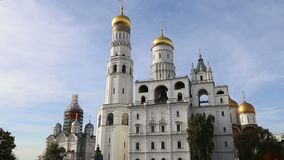 Inside of Moscow Kremlin, Russia day.  stock footage