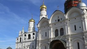 Inside of Moscow Kremlin, Russia day.  stock video footage