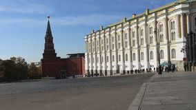 Inside of Moscow Kremlin, Russia day.  stock video