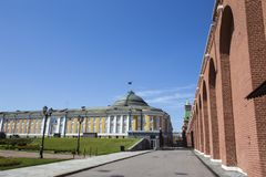 Inside of Moscow Kremlin, Russia stock photography
