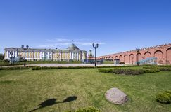 Inside of Moscow Kremlin, Russia stock photo