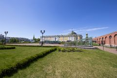 Inside of Moscow Kremlin, Russia royalty free stock photos