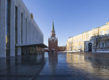 Inside of Moscow Kremlin on a sunny winter day, Russia Stock Image