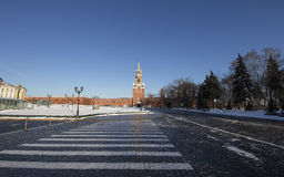 Inside of Moscow Kremlin on a sunny winter day, Russia Royalty Free Stock Photography