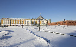 Inside of Moscow Kremlin on a sunny winter day, Russia Royalty Free Stock Photos