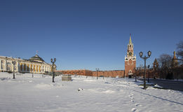 Inside of Moscow Kremlin on a sunny winter day, Russia Stock Photos