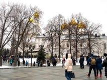 Inside Moscow Kremlin. Royalty Free Stock Photo
