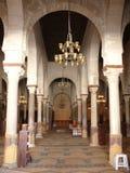 Inside mosque. In Kairouan, Tunisia stock images