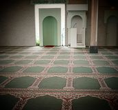 Inside a mosque. Binnen in een moskee Royalty Free Stock Images
