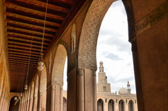 Inside the mosque of Ibn Tulun Royalty Free Stock Image