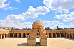 Inside the mosque of Ibn Tulun Stock Image
