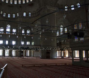 Inside a mosque in Istanbul Stock Photos
