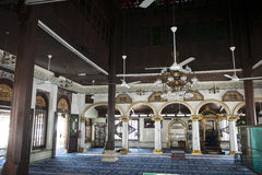 Inside a mosque on Melaka town, Malaysia Royalty Free Stock Photography