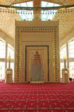 Inside the mosque, `mother`s Heart` in Chechnya. Mosque `Heart Mother` was built in 2014. It was named in honor of Naziemny aymani Kadyrova, mother of Ramzan Royalty Free Stock Image
