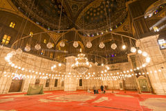 Inside of the mosque of Muhammad Ali, Saladin Citadel of Cairo Stock Images