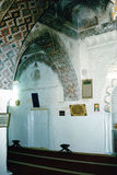 Inside a mosque. A mosque in Taiz city in Yemen Royalty Free Stock Photo