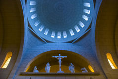 Inside a mother church. Main dome of the mother church of itapetininga in Brazil Stock Photos