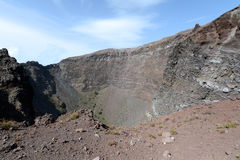 Inside the Mount Vesuvius volcano crater Stock Photos