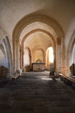 Inside a mountain chapel. Interior architecture of a mountain chapel Stock Photography