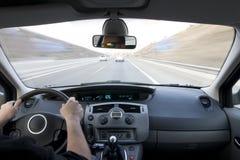 Inside Moving Vehicle Stock Image