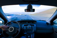 Inside moving vehicle Royalty Free Stock Images