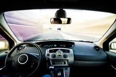 Inside moving vehicle Stock Photography