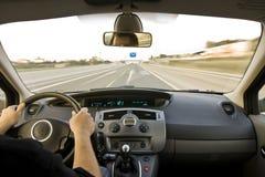Inside moving vehicle royalty free stock photos