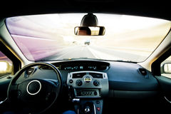 Inside moving vehicle Royalty Free Stock Image